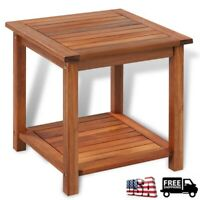 Outdoor Acacia Wood End Table Coffee side Table Garden Patio Porch Furniture