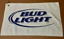 Bud Light Bar Towel With Grommet 25x15 Breweriana Beer Towel