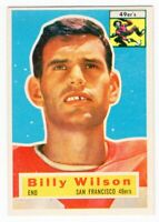 1956 Topps #62 Billy Wilson San Francisco 49ers Near Mint NM