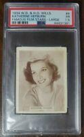 1934 W.D. & H.O. Wills Katherine Hepburn - Rare Card - Hollywood Star - PSA 1.5.