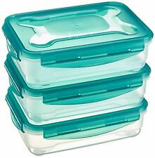 New listing Airtight Food Storage Containers Set of 3 x 1.2 Liter, Multicolour