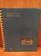 Tektronix Type 1A7A Differential Amplifier Operators Instruction Manual