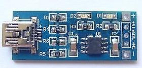 Caricabatterie da 5V Mini USB 1A Batteria al litio Caricabatterie Modulo IN 4...
