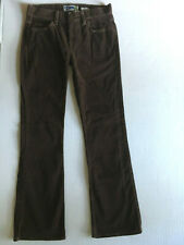Old Navy Brown Corduroy Bootcut Pants Womens 2 30 x 31 Stretch Cords Casual