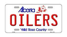 """Metal Vanity License Plate Tag Cover - Edmonton Oilers - Hockey Team - 12"""" x 6"""""""