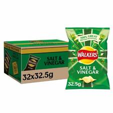Walkers Salt and Vinegar Crisps Box, 32.5 g, Case of 32
