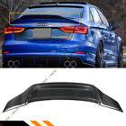 For 14-2020 Audi A3 S3 Rs3 8v Sedan Rt Style Carbon Fiber Duckbill Trunk Spoiler