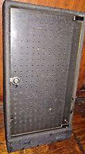 Black HEAVY 10 Pound CHIP WOOD BASE Glass Front PEG BOARD BACK Lock DISPLAY CASE