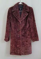 Bebe Coat Faux Persian Lamb Purplish Hue Womens Size XS
