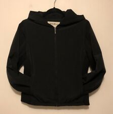 Women's Eddie Bauer Black Jacket Coat Hooded XS Small Zip Front Light Weight GUC
