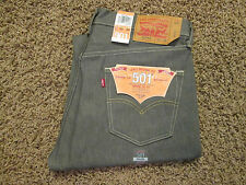 30 X 30 LEVI 501XX SHRINK TO FIT MENS BUTTON-FLY JEANS -GRAY- NWT