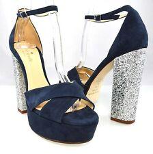 $358 KATE SPADE ISIS Platform Sandal Designer Glitter Heel Strap Women Shoes 6.5