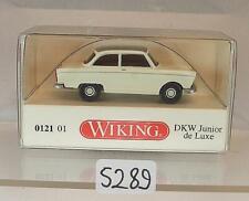 Wiking 1/87 Nr.0121 01 DKW Junior de Luxe perlweiß mit grauem Dach OVP #5289
