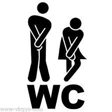 WC001 Toilettes 10x18cm à 30x53cm Sticker WC Tailles et Coloris Divers