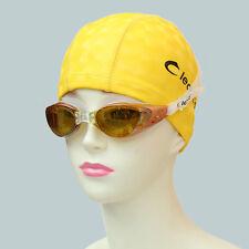 Leacco Solid Swim Cap PU Coated  swimming cap for Adult Caps for Men & Women