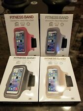 GEMS Fitness Arm Band Armband Universal Fit w/ Key Holder Brand New lot of 4