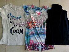 lotto 550 stock 3 T-shirt maglietta canotta canottiere donna Top Tg.S/M