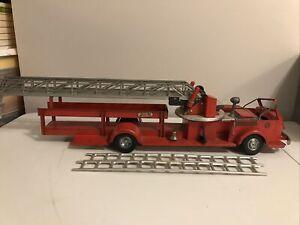 Doepke Model Toys Rossmoyne Aerial Ladder Fire Truck Pressed Steel