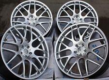 """Cerchi in Lega x 4 19 """" Argento Riva DTM per BMW M3 Z3 M Z4 GTS Coupe Cabrio Csl"""