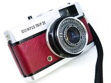 Olympus Trip 35 (1981) REFURB/SERVICED -Antique Red Leather - EXC COND FREE POST