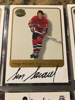 """2001-02 FLEER GREATS OF THE GAME SERGE SAVARD """"MONTREAL CANADIENS AUTOGRAPH AUTO"""