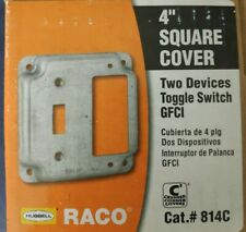 4 Hubbell-Raco 296-1 Round Ceiling Fan Mounting Box 1//2 Knock-Out 1-1//2 Depth Pack of 20