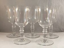 SET OF 5 BACCARAT FRENCH CRYSTAL PROVENCE PATTERN WATER GOBLET GLASSES 6.3/8 IN