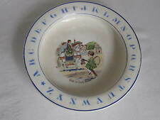 "Antique Baby Plate Bowl ""Ride a Cock Horse"""