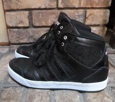 Adidas Black High Top Tennis Shoes-Sz 10