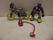 FISHER PRICE RESCUE HEROES KENNY RIDE W/ BIKE & BACKPACK