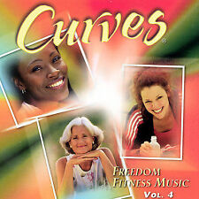 DAMAGED ARTWORK CD Various Artists: Curves Freedom Fitness Music 4