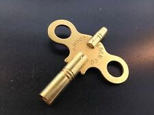 Ansonia Antique Clock Key Brass Double End Size 6/3