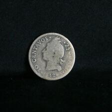 1942 10 Centavos Dominican Republic Silver World Coin Native Princess KM19