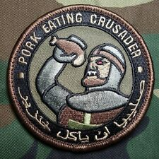 PORK EATING CRUSADER USA ISAF US ARMY MORALE ISIS TACTICAL FOREST VELCRO PATCH