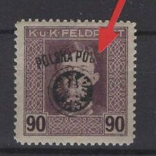 POLAND, POLSKA STAMPS, 1918 Fi. 29 WITH ERROR **