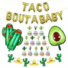 Taco Bout A Baby Balloons Decorations Supplies29pcs Fiesta Cactus Baby Shower...