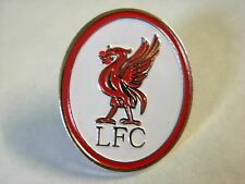 Liverpool pin badge. Liverbird. L.F.C.  Red and white Oval lapel badge Y.N.W.A.