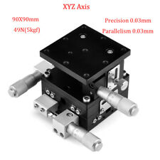 XYZ 3 Axis Linear Stage Manual Trimming Platform Bearing Tuning Sliding Table