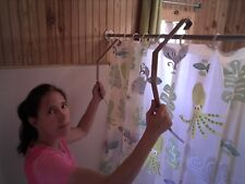 Aluminum Shower Legs Stops Shower Curtain Cling & Blow In