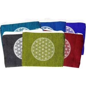 Cotton Print Flower of Life Coin Purse!