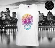 Markenlose Herren-T-Shirts aus Baumwolle mit Totenkopf-Motiv