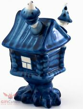 Gzhel porcelain Baba Yaga House Barrel pot jar container Magic Hut figurine