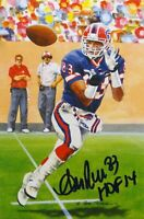 Andre Reed HOF Autographed Buffalo Bills Goal Line Art Card- JSA Authenticated