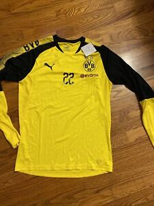 Puma Borussia Dortmund Soccer Practice Pulisic Training Long Sleeve Shirt
