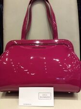 "7b7eb1343b BNWT Designer Patent Leather"" Medium Paula"" Handbag By Lulu Guinness"