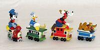 Hallmark Disney Train Mickey Pluto Goofy Donald Merry Christmas Miniatures