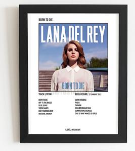 Lana Del Rey Poster Born To Die Album Art Polaroid Style Pop Poster A3 A4