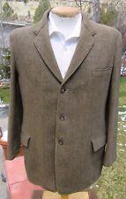 New listing Vintage 1940s 1950s Harris Tweed Sport Coat 42S - Golden 3 Button Blazer Jacket