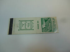 Vintage Early Matchbook Cover  White Cupboard Inn Woodstock Vermont Phone 203