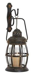 Wall Sconce Metal Glass Candle Holder Lantern Hanging Wall Mount Decor Home New